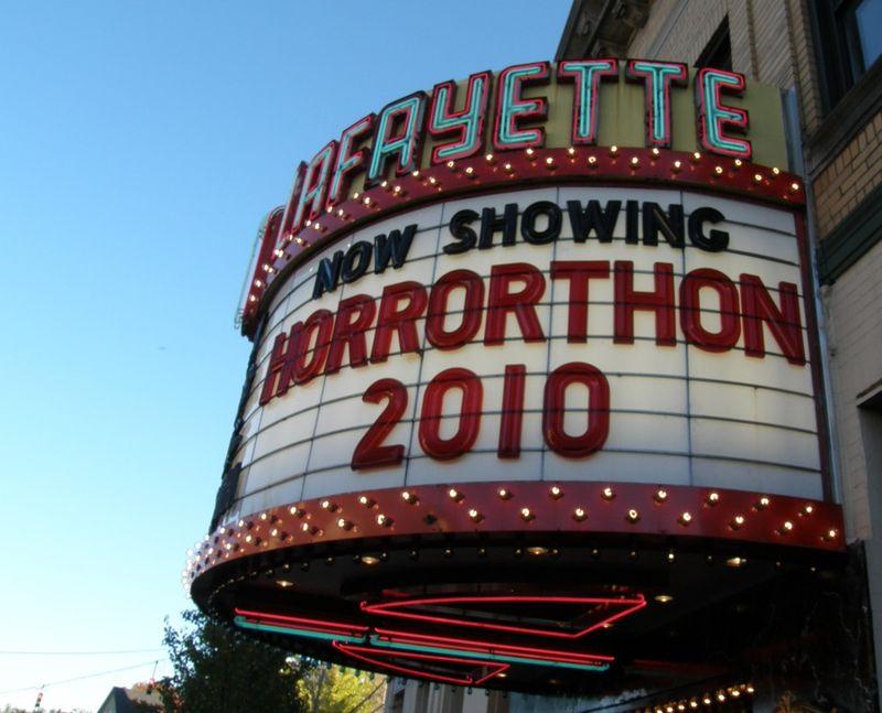 Horrorthon signage